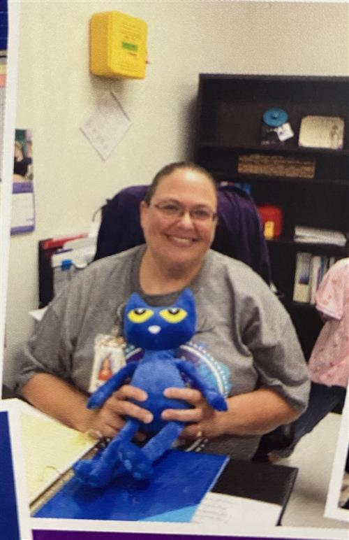 Nurse Reeder and Pete the cat