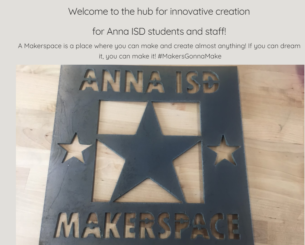 Anna ISD Makerspace Fabrication Lab